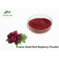China Pure Natural Red Bayberry Freeze Dried Fruit Powder Rich In Vitamin B,C on sale