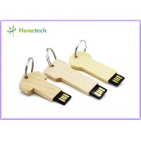 keychain High Speed Usb Flash Drive , Personalised wooden usb sticks gift Manufactures