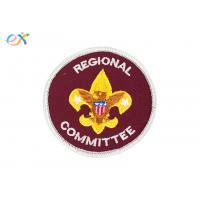 Red Color Round Personalised Embroidered Badges Clothing Patch For Boy Scout Manufactures