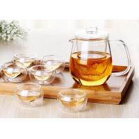 Drinkware Type Glass Teapot With Infuser Customized Decal ISO9001 Approved Manufactures