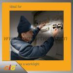 China LED knitted hat lights / LED lights hat hiking night fishing 6 LED luminous warm hat wholesale