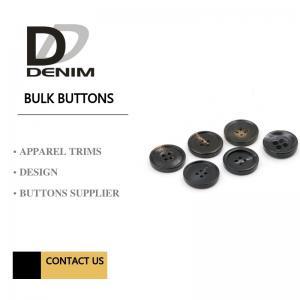 Black 4 holes Garments Large Size Buttons Manufactures