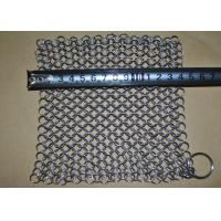 China 7''*7 SS Chainmail Cast Iron Scrubber / Cleaner , Polishing Surface Treatment on sale