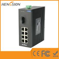 8 Port + 1 Port Industrial Dinrail Outdoor Network Switch 154*128.5*58mm Manufactures