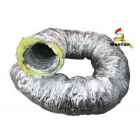 Quality Aluminum Foil Insulated Fiberglass Insulated Flexible Ducting For Air Conditioni for sale