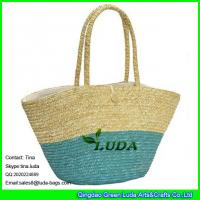 Quality LUDA  wholesale fashional wheat straw women shopping bags for sale