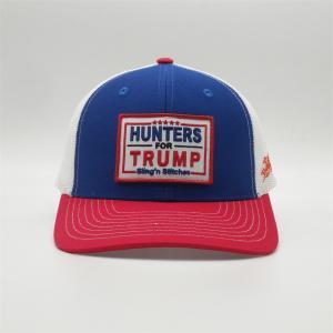 6 Panel Low Profile Hunters Mesh Trump Hat Single Buckle Manufactures