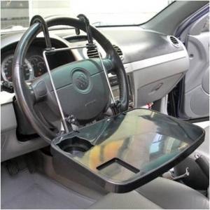 FDA LFGB Auto Storage Organizer , ABS Multi Purpose Laptop Car Travel Tray Manufactures