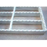 40 X 5 Serrated Bar Grating , Metal Building Hot Dipped Galvanised Steel Grate Manufactures