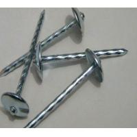 Umbrella Head Metal Working Tools , Q195 Galvanized Roofing Nails Twisted Shank Manufactures