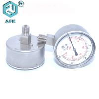 China Stainless Steel 316 Gas Pressure Test Gauge For Oxygen And Acetylene High Accuracy on sale