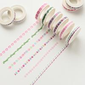 China Colorful Custom Printed Washi Tape for Stationary, DIY Self Adhesive Washi Tape on sale