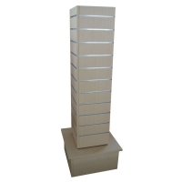 Retail MDF Spinner Display Stands / Square Shaped Retail Floor Display Stands Manufactures