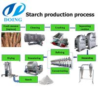 China Nigerial cassava tapioca starch extraction process machines cassava starch extract technology transfer on sale