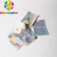 Clear Front Foil Pouch Packaging Custom Hologram Rainbow Foil Smell Proof Mylar Bag Manufactures