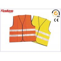 China Colorful reflective tape fluorescent safety vest , short working wasitcoat on sale