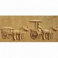 Artificial Sandstone Art/TV/KTV Background Embossed Wall Decorative Plate Manufactures