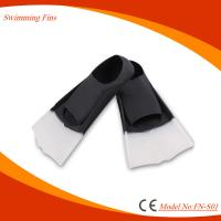 100% Silicone Material Short Swim Fins With Sun And Chlorine Resistance Manufactures