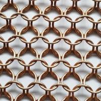 China Flexible stainless steel ring China supplier 304 stainless steel rings woven mesh room divider on sale