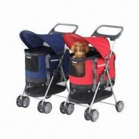 Pet Strollers with Rust-resistant Steel Wheels, Made of Nylon and Water-resistant Fabric Manufactures