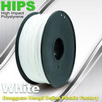 Quality Custom White HIPS 3D Printer Filament 1.75mm / 3mm , Reusable 3D Printing for sale