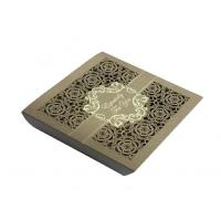 Square Lace Laser Cut Chocolate Paper Box  For Wedding Invitation Manufactures
