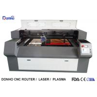 China Double Heads Fabric Acrylic Laser Cutting Machine With RD 6332M Control System on sale