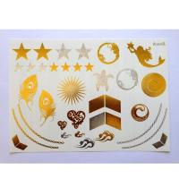 getbetterlife fashion design gold silver flash tattoo temporary foil gold metallic tattoo Manufactures