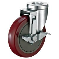 Industrial Strength Locking Caster Wheels , Heavy Duty Shopping Cart Caster Wheels Manufactures