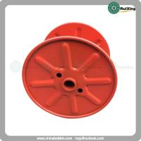 Reel with single wall rimmed flange in pressed steel for