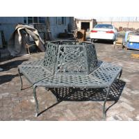Black Wrought Iron Round Metal Tree Seat Cast Iron Patio Bench Painting Finishing Manufactures