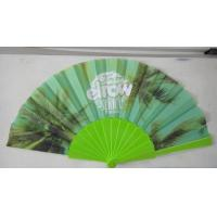 China Promotional Heat Transfer / Silk Printing Plastic Folding Hand Fans With Customer Logo on sale