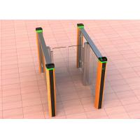 China Fast speed lane glass gate brushed stainless steel swing turnstile gate for access control system on sale