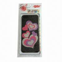 Mobile Phone Sticker for iPhone 5, Made of Acrylic, Customized Designs are Accepted Manufactures