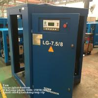 Quality Oil Injected 45kw 8bar Belt Driven Rotary Screw Air Compressor For Bottle Blower for sale