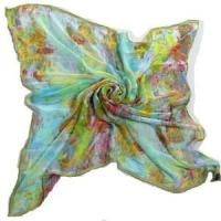 Digital Printing Silk Square Scarf (HP-C02) Manufactures