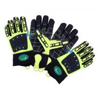 China Hi-Vis Cut Level 5  Impact Resistant And Anti-Vibration Gloves on sale