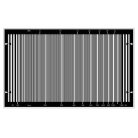 1200 Lines HD Sweep Test Chart Sineimage YE0231 For HDTV Cameras Manufactures