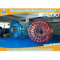 0.7mm TPU  Inflatable Water Roller / Water Walking Roller Blue And Red Color Manufactures