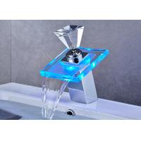 ROVATE LED Waterfall Faucet Desk Mounted Temperature Control Water Faucet Manufactures