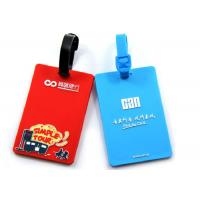 Delicate Design Custom Plastic Luggage Tags Easy Cleaning Promotional Gifts Manufactures