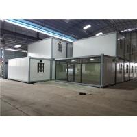 China Construction Site Prefab Sandwich Panel Container House / Cargo Container Homes on sale