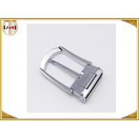 Various Colors Noble Metal Belt Buckle , Solid Silver Color Belt Buckle Manufactures