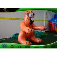 Lifelike Funny Sitting Customized Sex Toy Balloon , Giant Inflatable Standing Tiger Manufactures