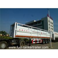 Container tube CNG Tanker trailer , 6265Nm3 oil / water / milk tanker trailer Manufactures