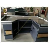 Buy cheap Retail Shop Cashier Checkout Counter / Durable Wooden Cashier Desk from wholesalers