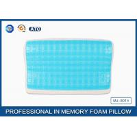 Blue Quality Memory Foam Cooling Gel Pillow With Comfort Washable Cover Manufactures