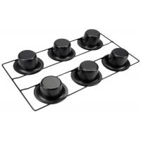 China 6 Cup Stainless Steel Baking Tray / Carbon Steel Muffin Tray With Stand on sale