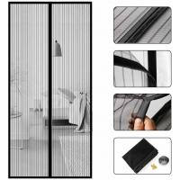 Wear Resistant Magnetic Screen Door Curtain With Polyester Fabric Screen Manufactures