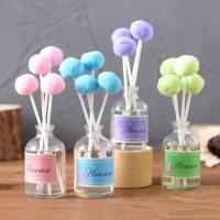 China Wedding Custom Color Home Reed Diffuser Essential Oil Reed Diffuser Cotton Ball Stick on sale